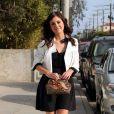 Jessica Stroup, ravissante dans sa petite robe noire... Ses gambettes ne sont pas mal non plus !