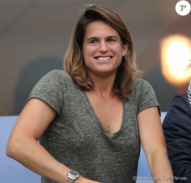 Amélie Mauresmo lors du match du quart de finale de l'UEFA Euro 2016 France-Islande au Stade de France à Saint-Denis, France le 3 juillet 2016. © Cyril Moreau/Bestimage