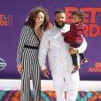 DJ Khaled avec sa femme Nicole Tuck et son fils Asahd Tuck Khaled à la soirée BET Awards au théâtre Microsoft à Los Angeles, le 24 juin 2018