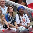 Maria Salaues (compagne de Paul Pogba) et la mère de Paul Pogba, Yeo Pogba - Célébrités dans les tribunes lors du match de coupe du monde opposant la France au Danemark au stade Loujniki à Moscou, Russia, le 26 juin 2018. Le match s'est terminé par un match nul 0-0. © Cyril Moreau/Bestimage