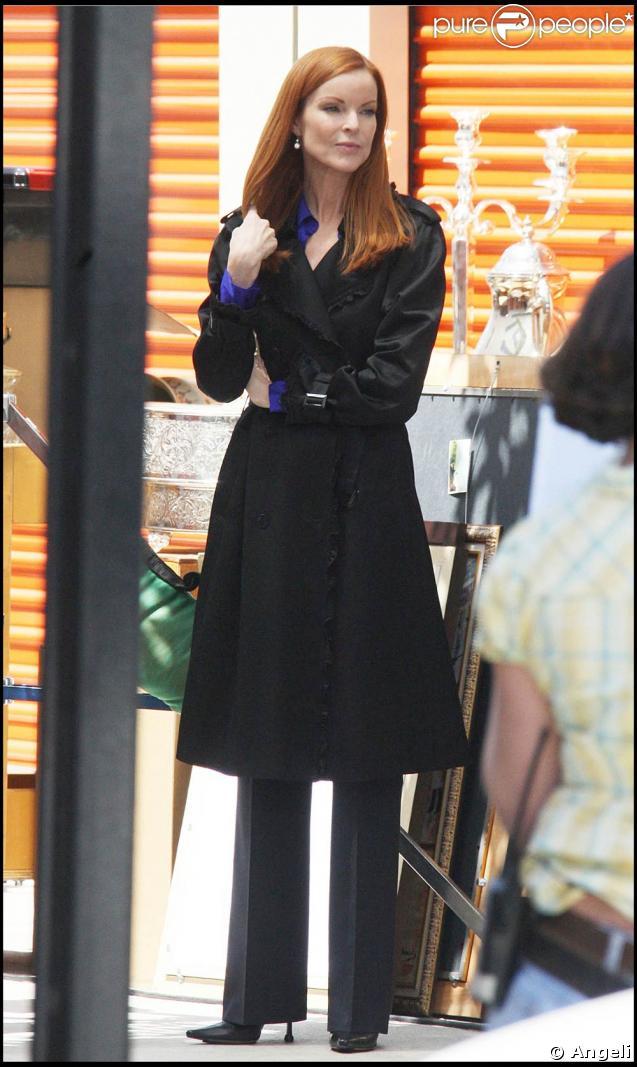 Marcia Cross sur le tournage de Desperate Housewives
