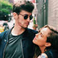 Jean-Baptiste Maunier et sa chérie Léa Arnezeder (photo postée le 28 juin 2018)