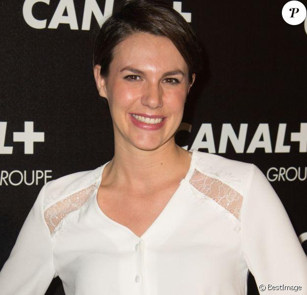 Emilie Besse - Soirée des animateurs du Groupe Canal+ au Manko à Paris. Le 3 février 2016.