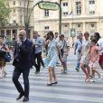 Katie Holmes et sa fille Suri vont visiter le Louvre, à Paris, à l'occasion de leur voyage en France le 1er juillet 2018