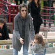 Amanda Peet passe l'après-midi au parc à Cold Water avec sa fille Frances Pen Benioff