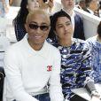 """Pharrell Williams et sa femme Helen Lasichanh - 2e défilé de mode """"Chanel"""", collection Haute-Couture automne-hiver 2018/2019, à Paris. Le 3 juillet 2018 © Olivier Borde / Bestimage"""