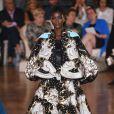 Défilé Valentino, collection Haute Couture automne-hiver 2018/2019 à l'hôtel Salomon de Rotschild à Paris. Le 4 juillet 2018.