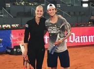 Kristina Mladenovic et Dominic Thiem : Doux baiser à Wimbledon