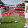 David Beckham et Andy Murray s'engagent contre la malaria, à Wembley, le 20/04/09