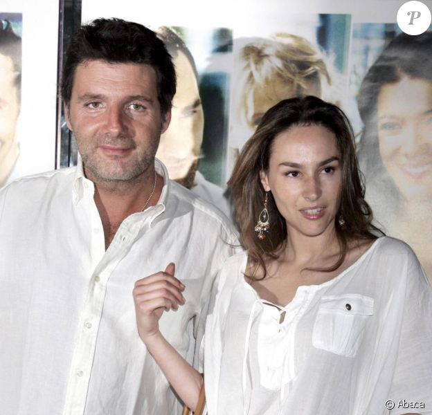 Vanessa Demouy et son mari, en 2006.