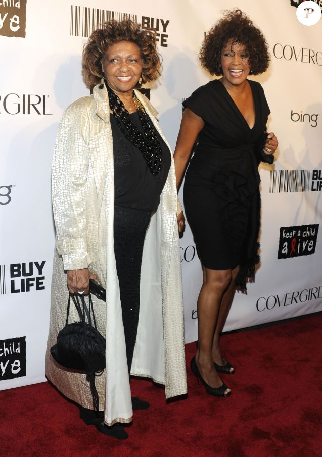 Whitney Houston et sa mère Cissy Houston à New York en 2010.