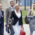 La présidente croate Kolinda Grabar-Kitarovic - Arrivées au sommet de l'OTAN à Bruxelles - Jour 2. Le 12 juillet 2018