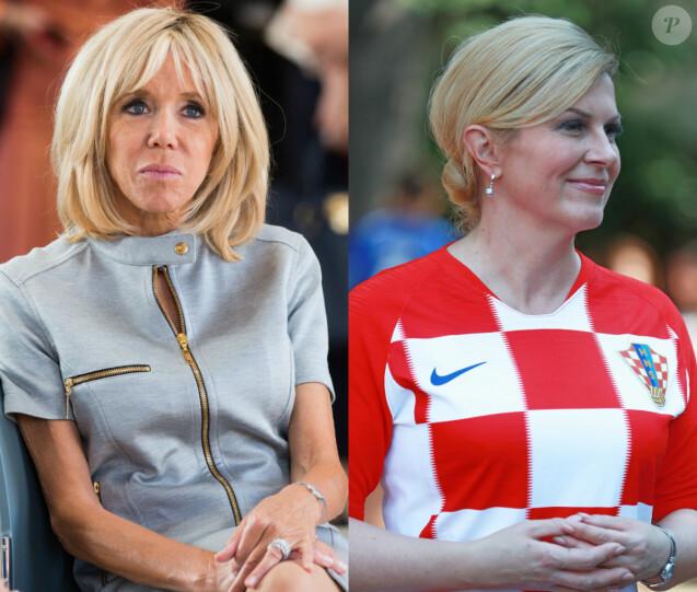 Brigitte Macron face à Kolinda Grabar-Kitarović, un duel France-Croatie.