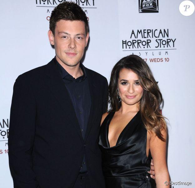 """Corey Monteith et Lea Michele - Premiere du film """"American Horror Story : Asylum"""" aux studios Paramount a Los Angeles. Le 13 octobre 2012"""