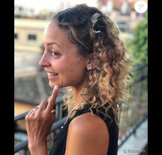 Nicole Richie recouverte de fiente d'oiseau lors de ses vacances en Italie. Juillet 2018.