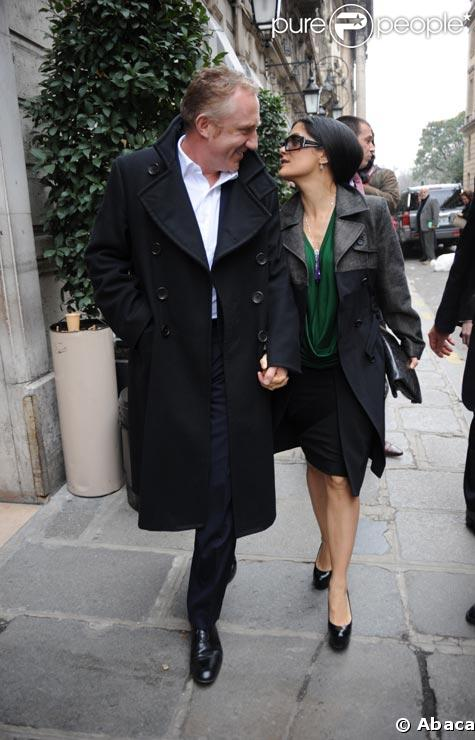 Salma Hayek et son mari François-Henri Pinault en mars 2009