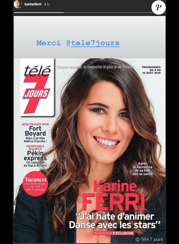 """Karine Ferri en couverture du prochain numéro de """"Télé 7 jours"""""""