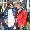 Exclusif - L'acteur Ed Westwick et sa compagne Jessica Serfaty déjeunent à Los Angeles, le 20 janvier 2018.