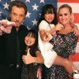 Johnny et Laeticia Hallyday avec leurs filles Jade et Joy, le 26 juin 2017