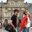 Exclusif - Céline Dion se rend chez Chanel à Paris en compagnie de son danseur Pepe Munoz Le 14 juillet 2017.
