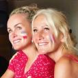 Laeticia Hallyday et son amie Liliane Jossua à Saint-Barthélemy, le 10 juillet 2018.