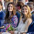 La princesse Sofia et le prince Carl Philip de Suède le 14 juillet 2018 à Borgholm lors du 41e anniversaire de la princesse Victoria.