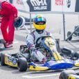 Le prince Carl Philip de Suède au circuit de Lidköping le 12 août 2018 pour la course de karting annuelle à son nom.