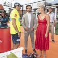 Le prince Carl Philip de Suède lors de l'Open de Suède de padel à Bastad le 29 juillet 2018.