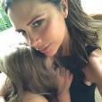 Victoria et Harper Beckham, tendre moment sur Instagram le 9 août 2018.