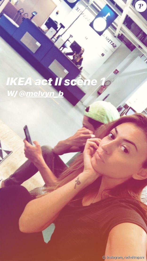 Rachel Legrain-Trapani en pleine virée Ikea sur Instagram, le 16 août 2018.