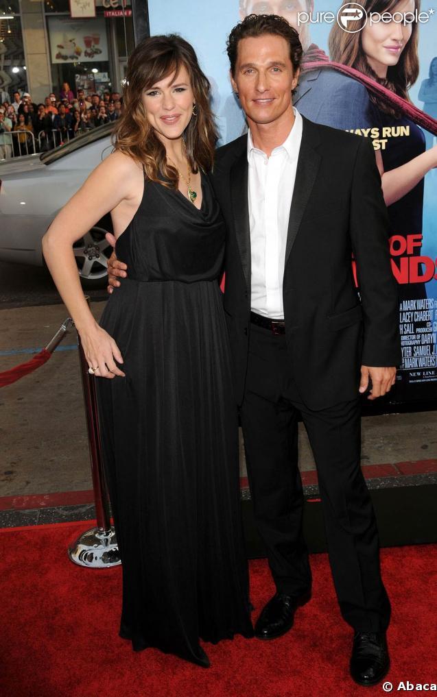"Jennifer Garner et Matthew McConaughey à la Première du film ""Ghosts of Girlfriends past"" au Grauman's Chinese Theatre de Hollywood"
