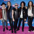 Le groupe Aerosmith (Steven Tyler et le reste du groupe) aux MTV Video Music Awards 2018 à New York, le 20 août 2018.