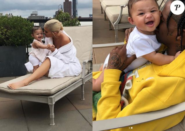 Kylie Jenner et Travis Scott ont partagé de nouvelles photos de leur fille Stormi sur Instagram le 22 août 2018.