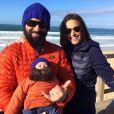 Natasha St-Pier avec son fils Bixente et son mari Grégory - Photo publiée le 20 janvier 2016