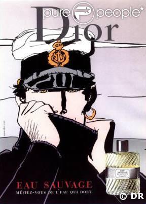 Campagne de publicité pour le parfum Eau Sauvage de Dior avec le ...