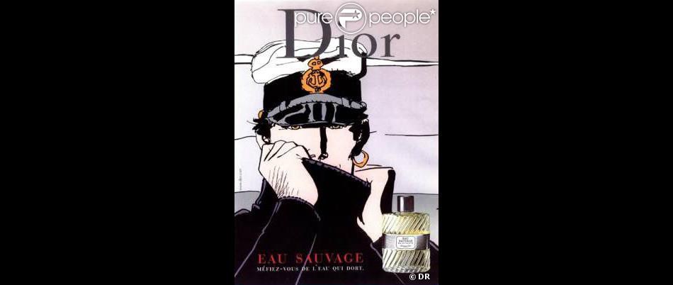Campagne De Publicité Pour Le Parfum Eau Sauvage De Dior Avec Le