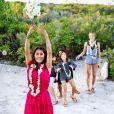 Salma Hayek et François-Henri Pinault ont renouvelé leurs voeux de mariage à Tahiti. Le 10 août 2018.