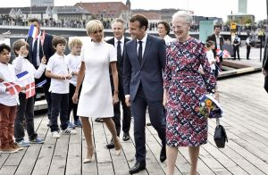 Brigitte Macron : Première dame chic avec la princesse et la reine du Danemark