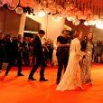 """Emma Stone - Première du film """"The Favourite"""" lors du 75ème festival du film, la Mostra le 30 aout 2018."""