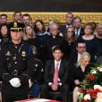 La famille de John MCain lors de l'hommage national organisé en la mémoire du sénateur au Capitole à Washington le 31 août 2018