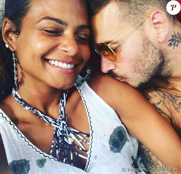 Christina Milian et M. Pokora au restaurant La Pomme de pin à Ramatuelle - photo postée sur Instagram le 3 septembre 2018.