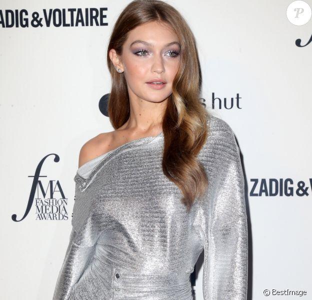 Gigi Hadid à la 6ème soirée annuelle Daily Front Row's Fashion Media Awards à l'hôtel Park Hyatt à New York, le 6 septembre 2018.