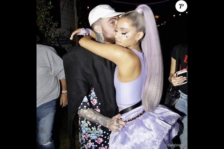 Ariana Grande et Mac Miller en avril 2018.