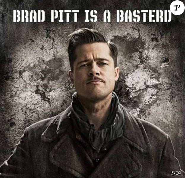 """Brad Pitt sur la nouvelle affiche de """"Inglourious Basterds"""", de Quentin Tarantino !"""