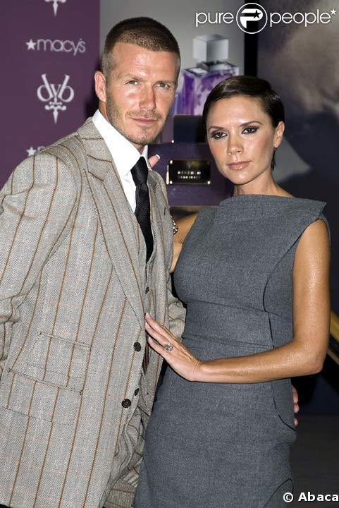 David et Victoria Beckham en septembre 2008