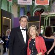 Exclusif - Patrick de Carolis et sa femme Carol-Anne -Dîner de Gala de la 30e Biennale de Paris au Grand Palais, le 6 septembre 2018 © Luc Castel - Julio Piatti / Bestimage
