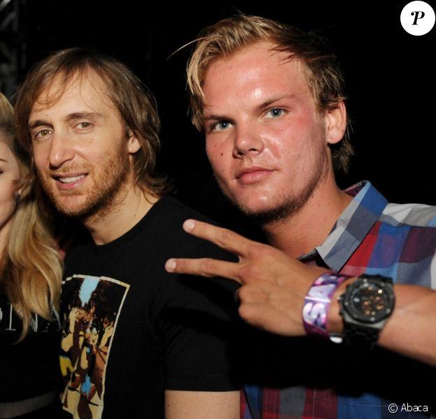 Justice, Madonna, David Guetta, Avicii lors de l'édition 2012 de l'Ultra Music Festival à Miami le 24 mars 2012.