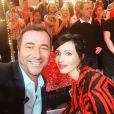 """Bernard Montiel avec Géraldine Maillet sur le plateau de """"Touche pas à mon poste"""" le 10 septembre 2018."""
