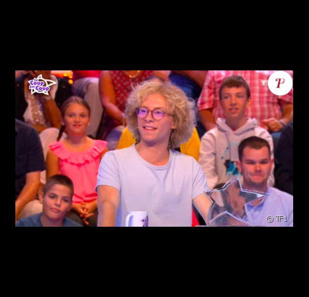 """Eloi, candidat des """"12 Coups de midi"""" (TF1), éliminé du jeu face à Jean-Luc Reichmann le 21 septembre 2018."""