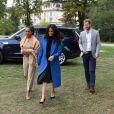 Meghan Markle, duchesse de Sussex, le prince Harry et Doria Ragland, mère de Meghan, lors d'une réception au palais de Kensington en l'honneur des auteures du livre de recettes Together, le 20 septembre 2018 à Londres.